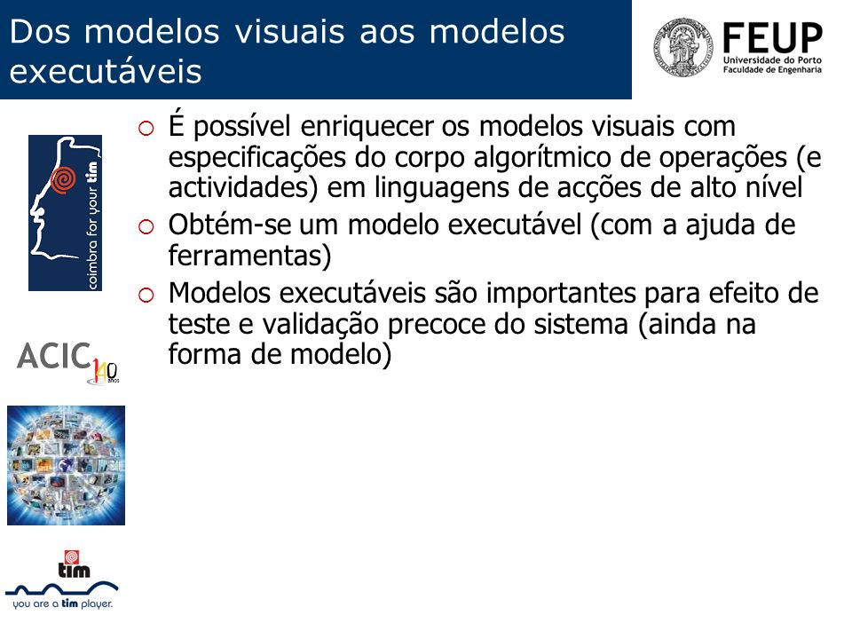 Dos modelos visuais aos modelos executáveis