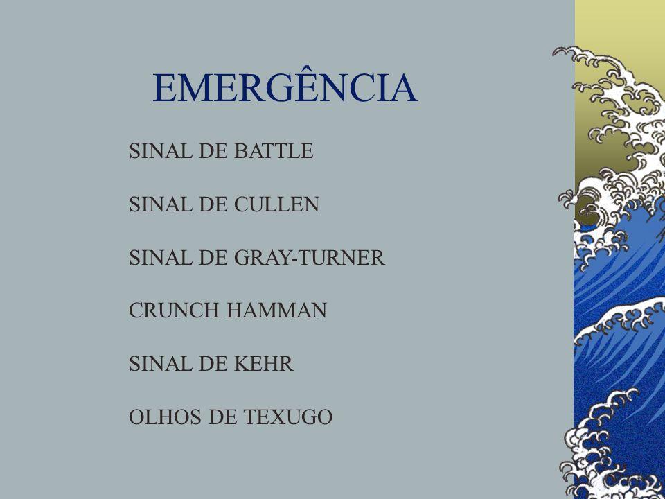 EMERGÊNCIA SINAL DE BATTLE SINAL DE CULLEN SINAL DE GRAY-TURNER