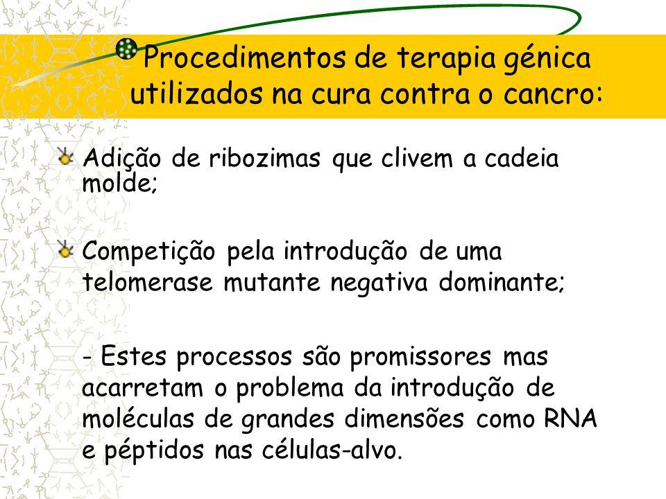 Procedimentos de terapia génica utilizados na cura contra o cancro:
