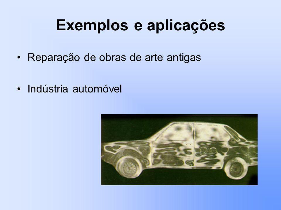 Exemplos e aplicações Reparação de obras de arte antigas