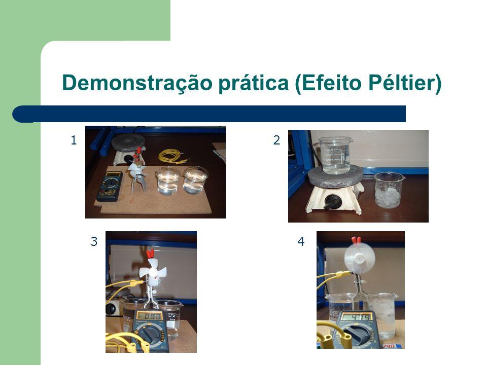 Demonstração prática (Efeito Péltier)