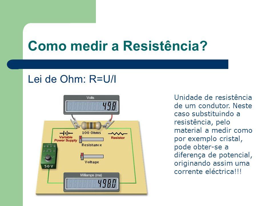 Como medir a Resistência