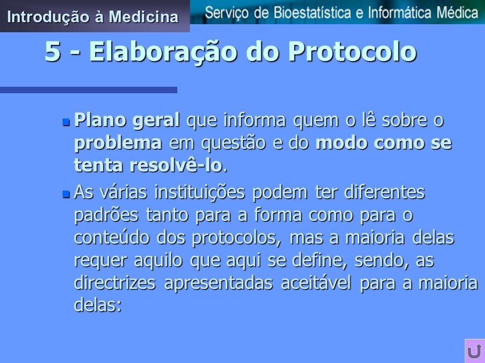 5 - Elaboração do Protocolo