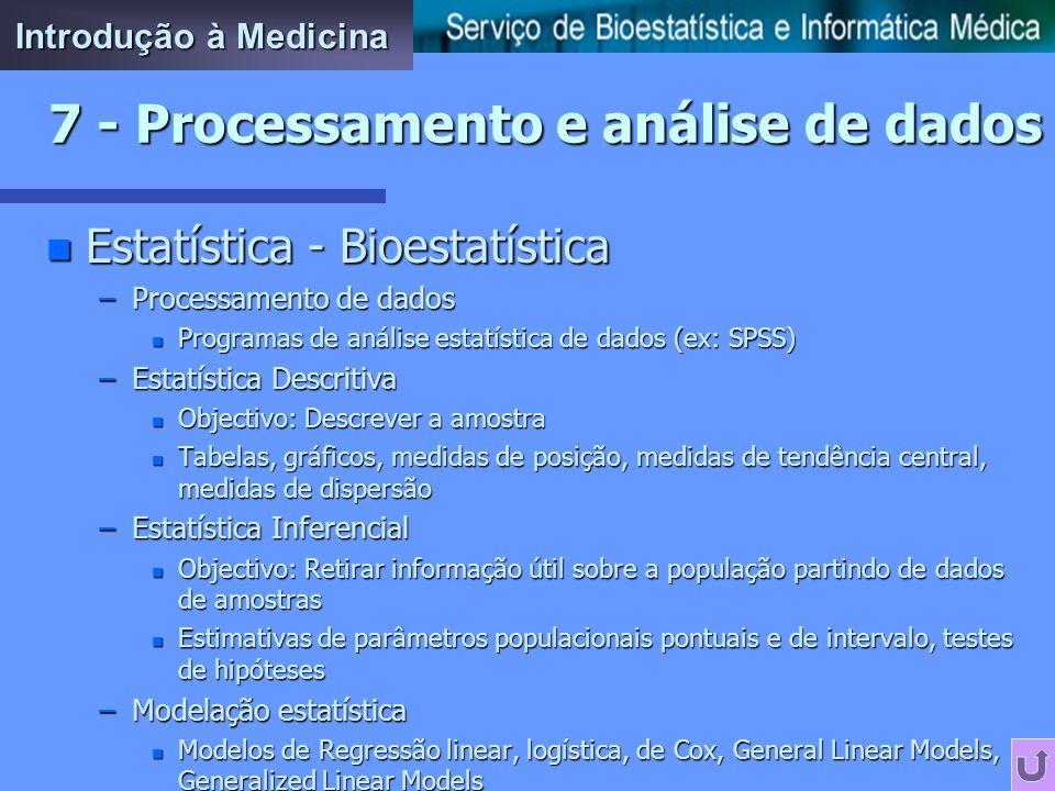 7 - Processamento e análise de dados
