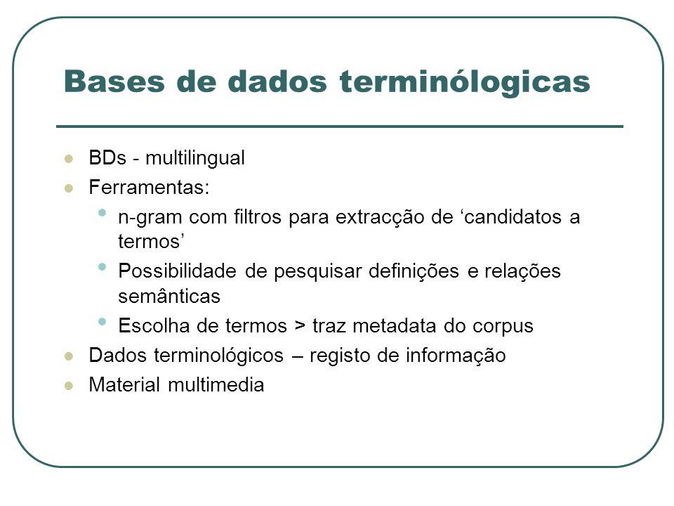Bases de dados terminólogicas