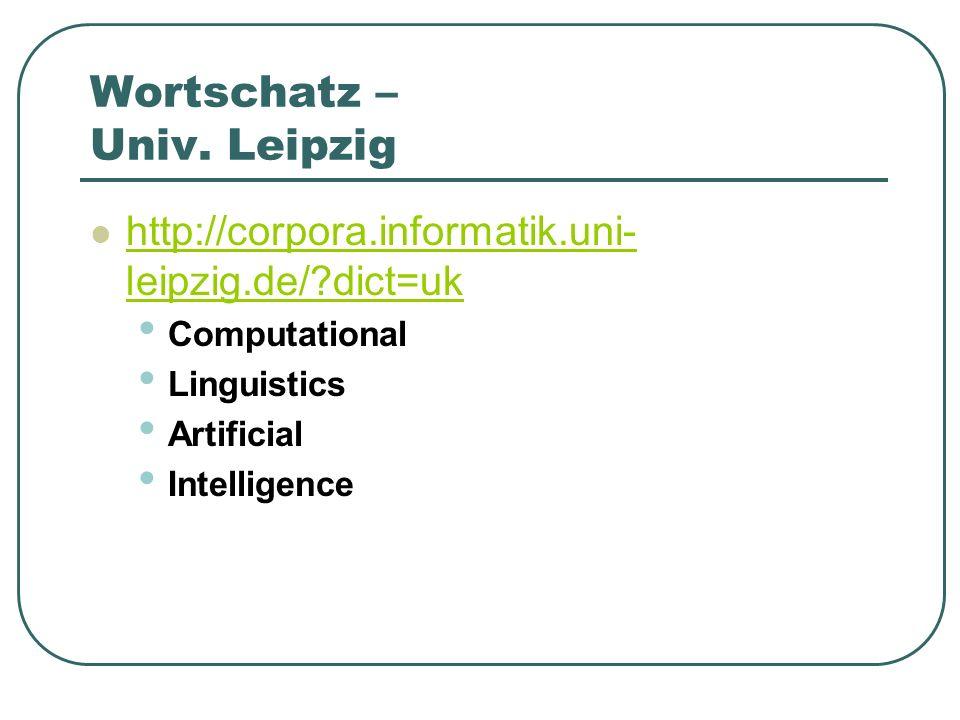 Wortschatz – Univ. Leipzig