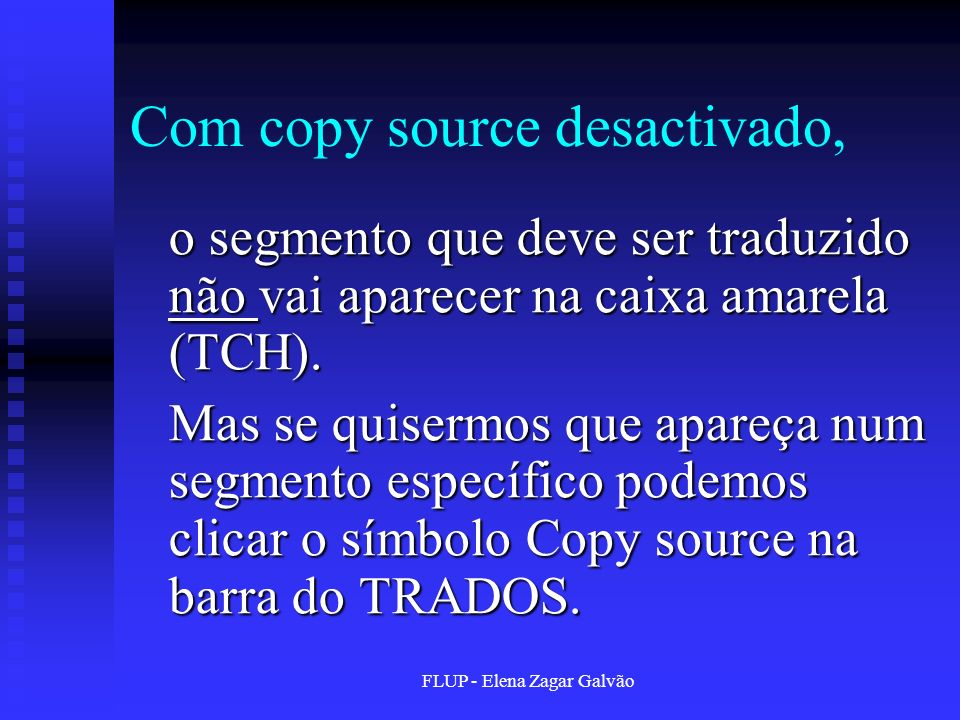 Com copy source desactivado,