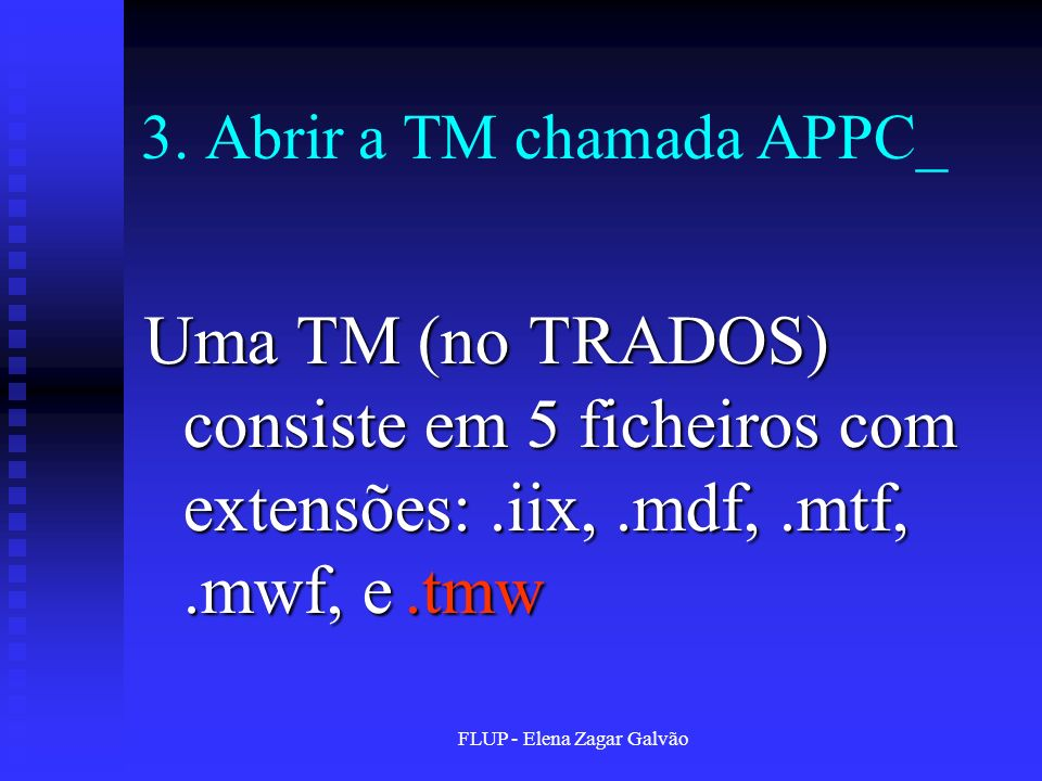 3. Abrir a TM chamada APPC_