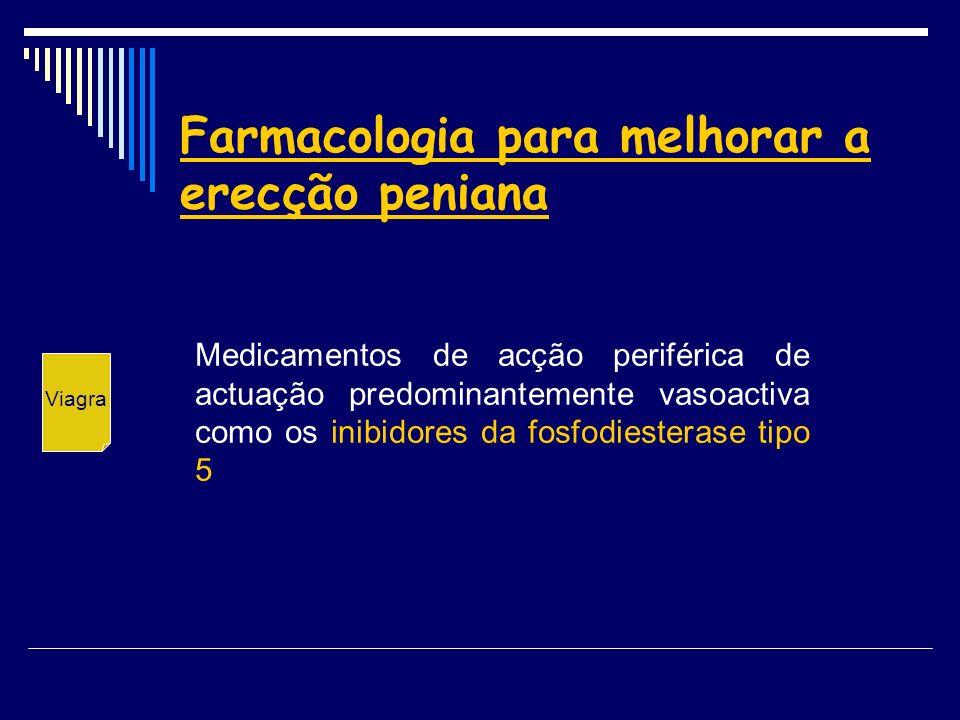 Farmacologia para melhorar a erecção peniana