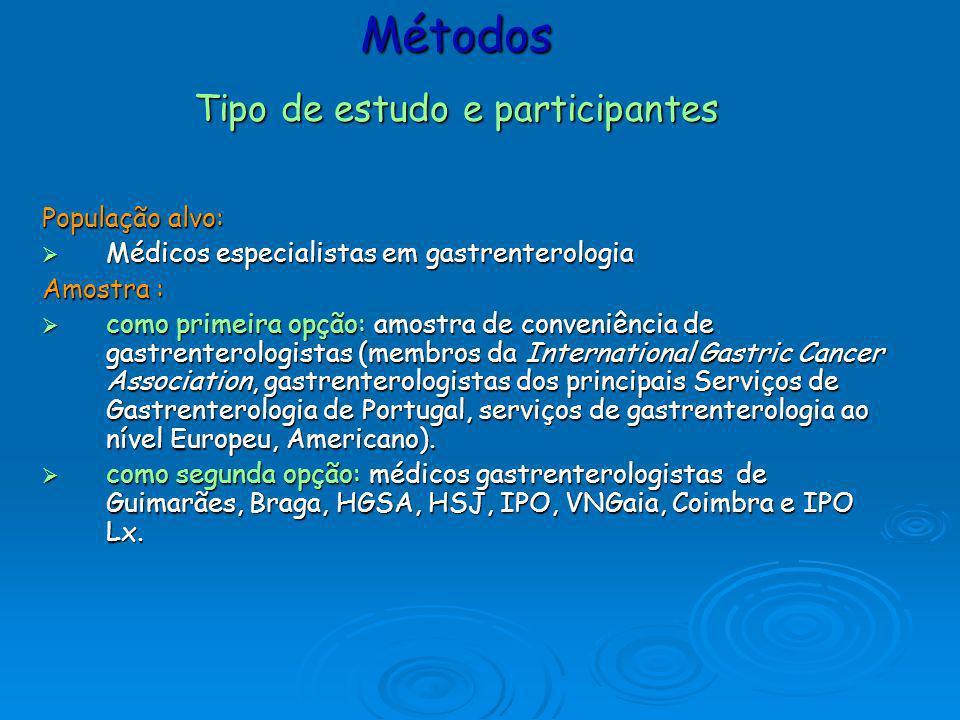 Tipo de estudo e participantes