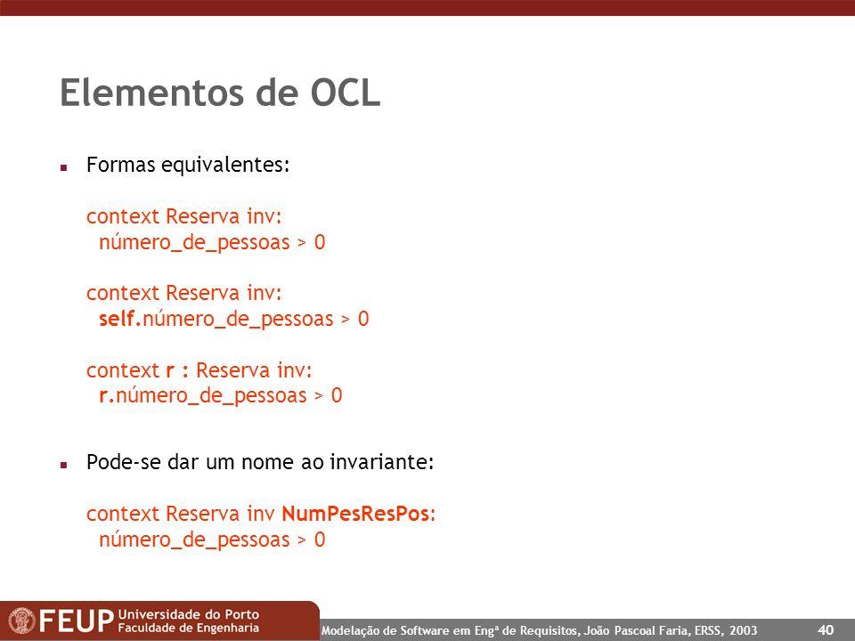 Elementos de OCL