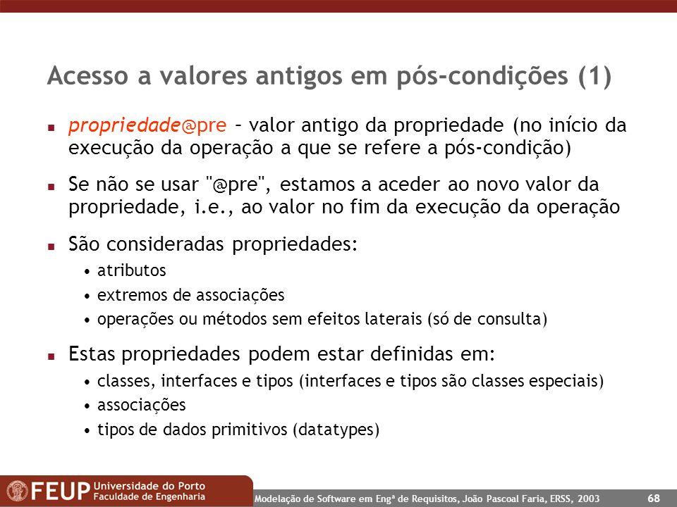 Acesso a valores antigos em pós-condições (1)