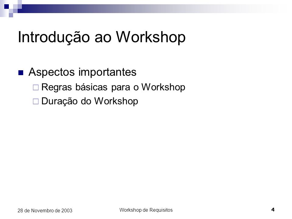 Introdução ao Workshop