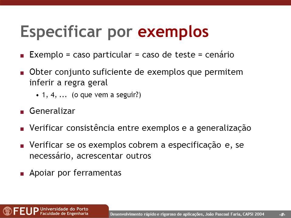 Especificar por exemplos