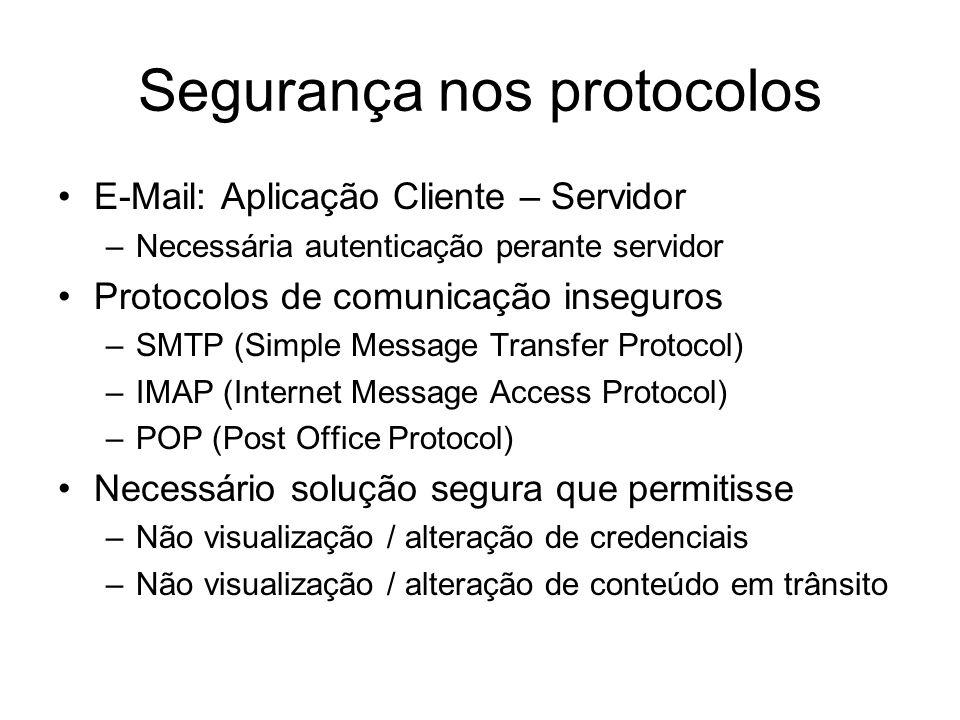 Segurança nos protocolos
