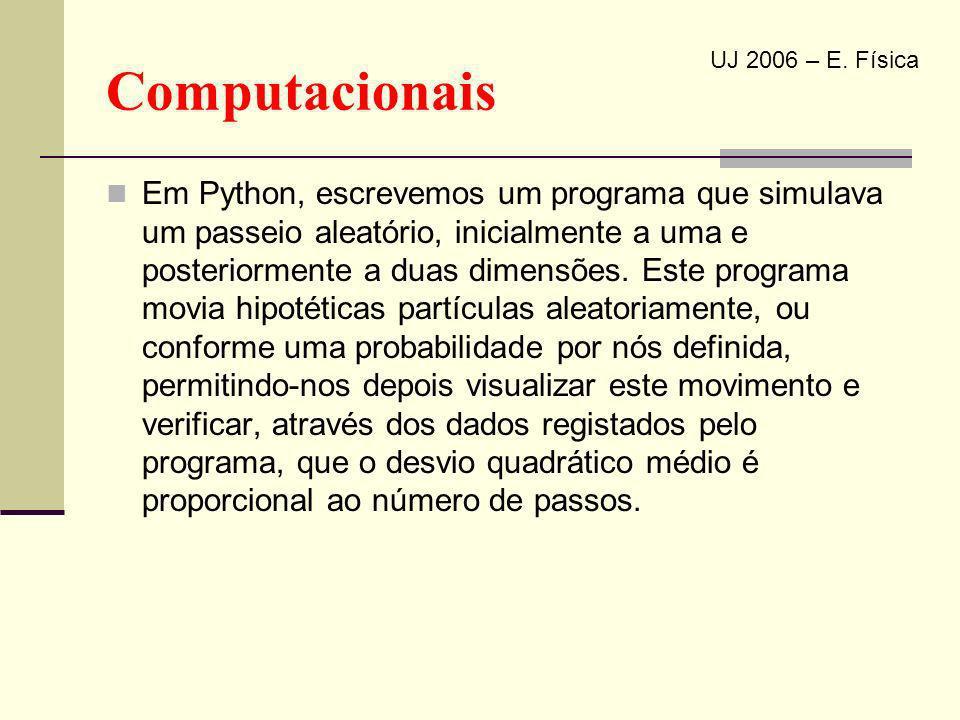 Computacionais UJ 2006 – E. Física.