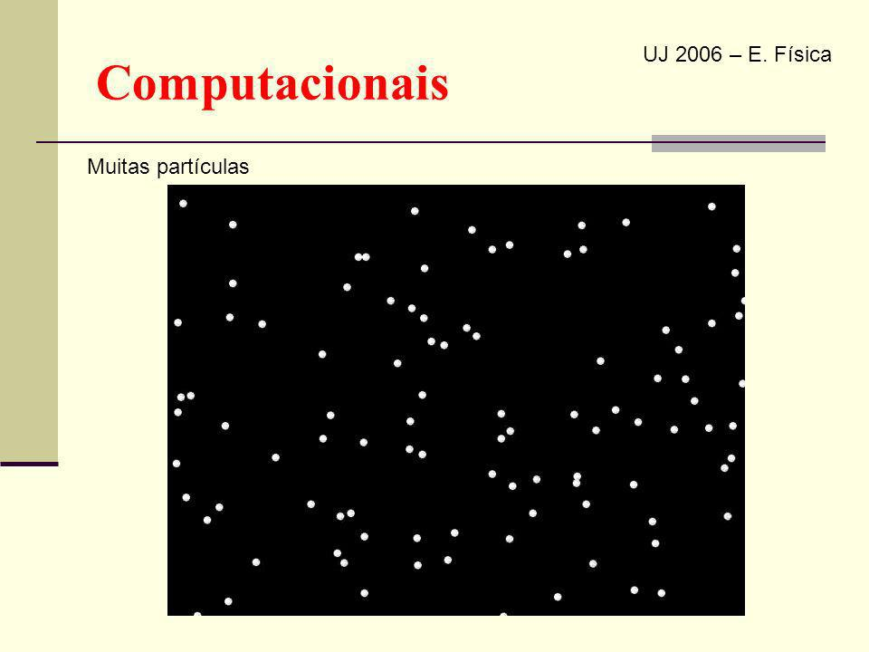 Computacionais UJ 2006 – E. Física Muitas partículas