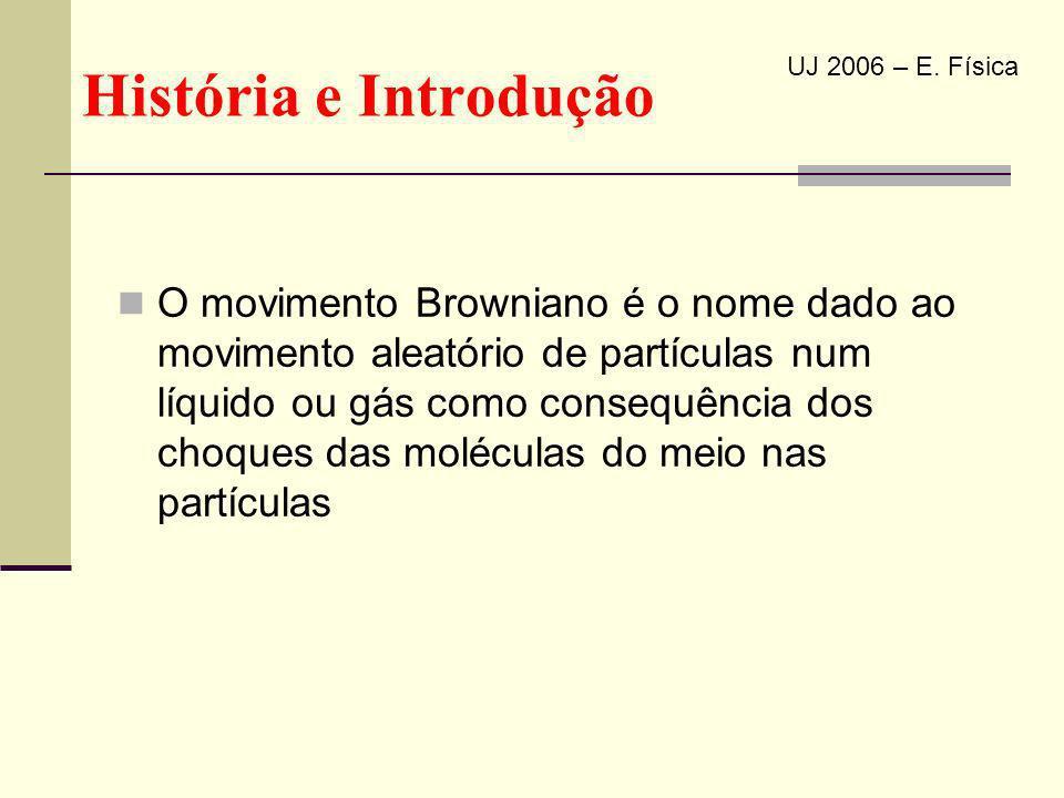 História e Introdução UJ 2006 – E. Física.