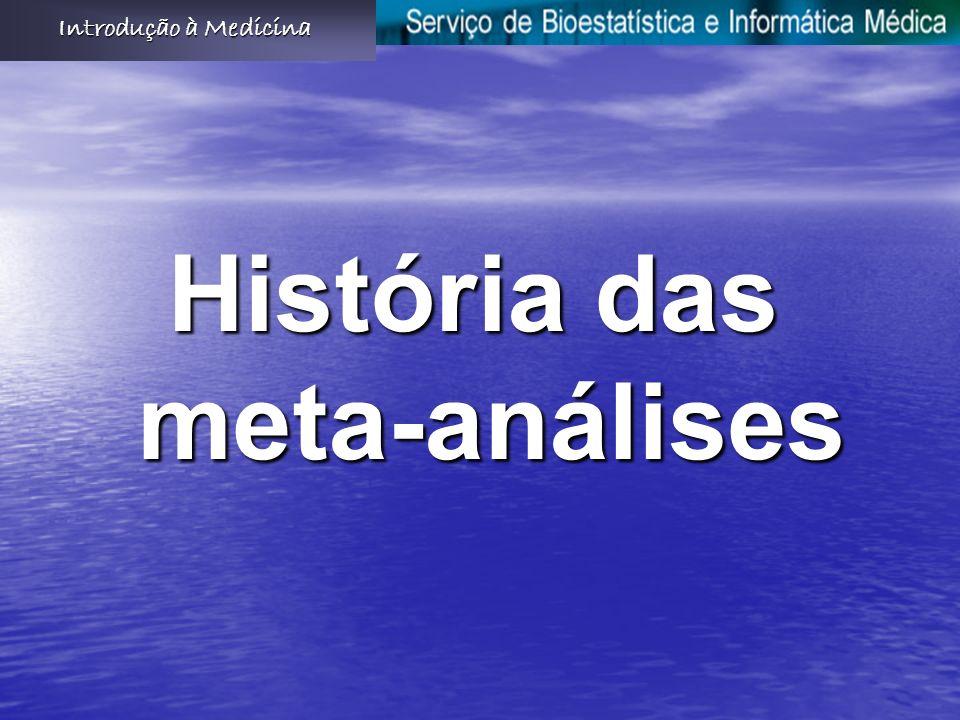 História das meta-análises