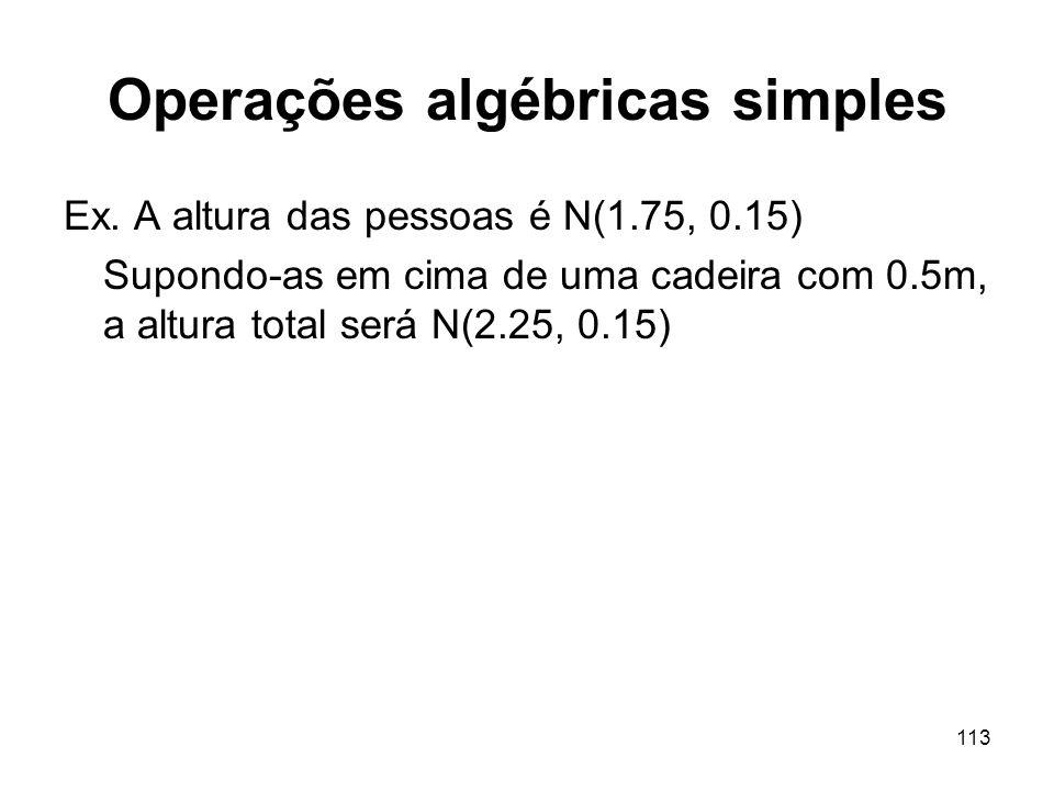 Operações algébricas simples