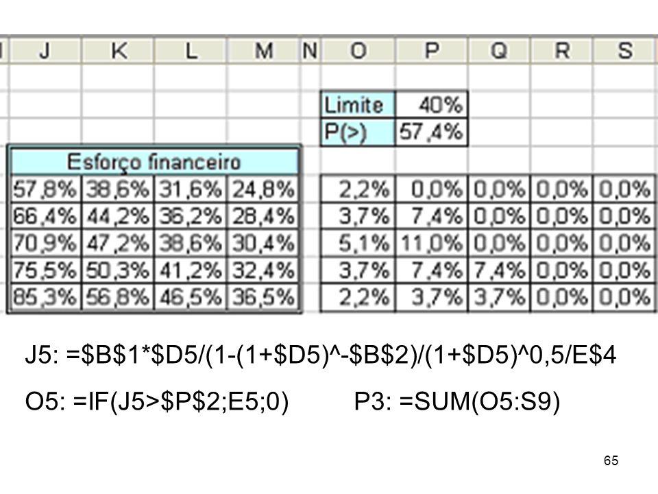J5: =$B$1*$D5/(1-(1+$D5)^-$B$2)/(1+$D5)^0,5/E$4