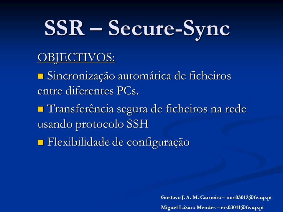 SSR – Secure-Sync OBJECTIVOS: