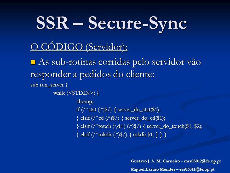 SSR – Secure-Sync O CÓDIGO (Servidor):