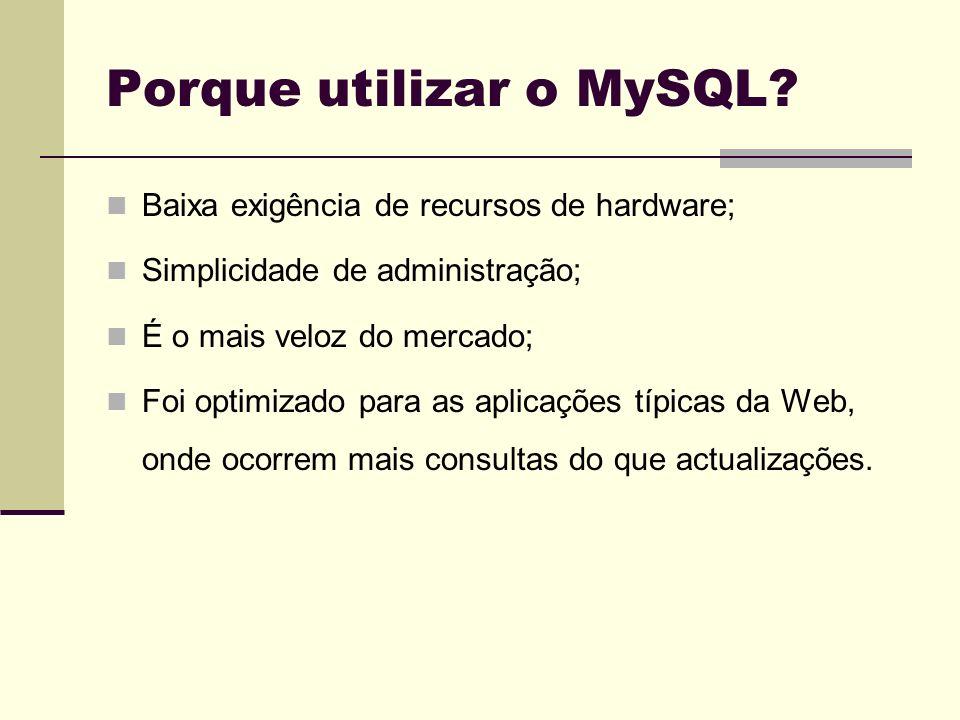 Porque utilizar o MySQL