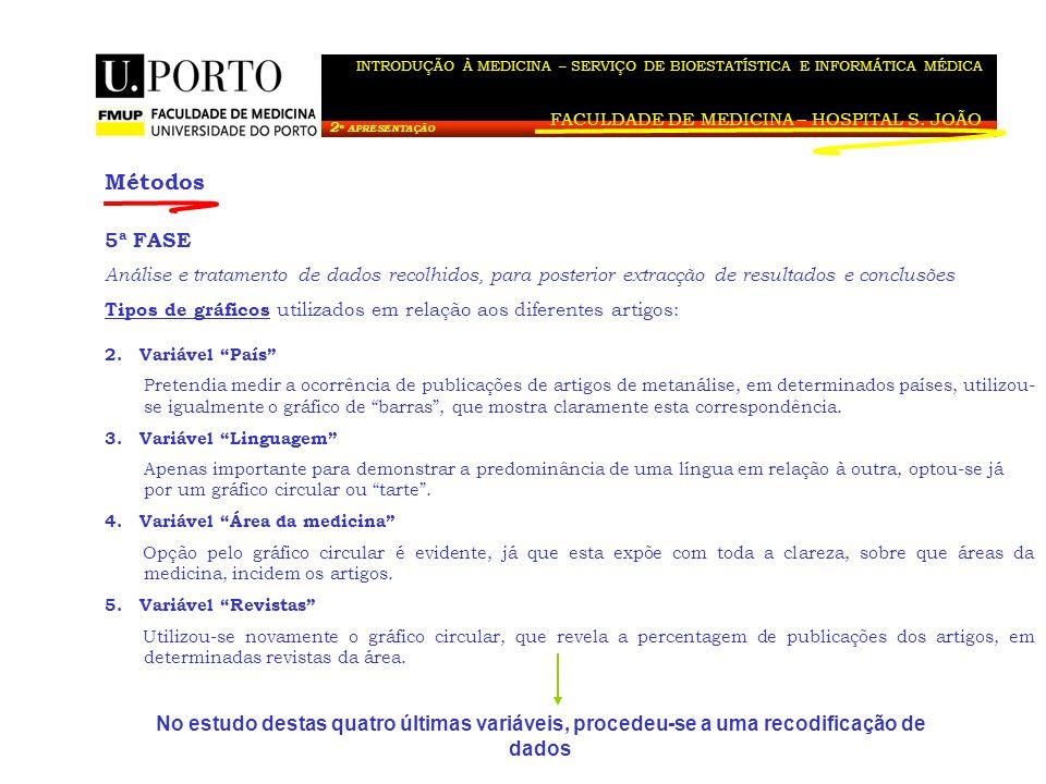FACULDADE DE MEDICINA – HOSPITAL S. JOÃO
