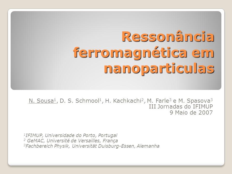 Ressonância ferromagnética em nanoparticulas