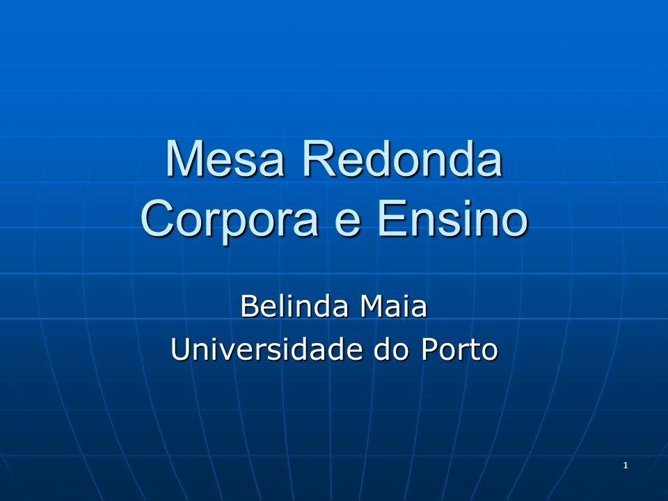 Mesa Redonda Corpora e Ensino