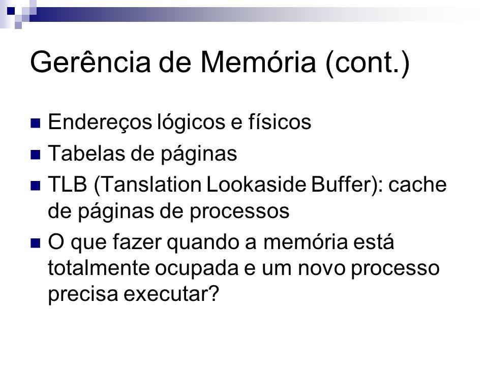 Gerência de Memória (cont.)