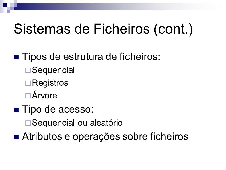 Sistemas de Ficheiros (cont.)