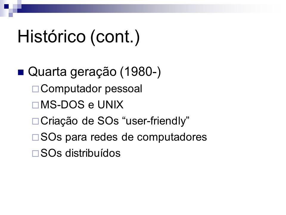 Histórico (cont.) Quarta geração (1980-) Computador pessoal