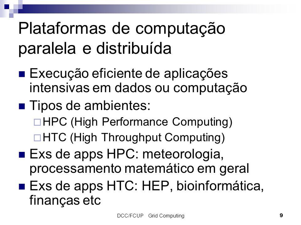Plataformas de computação paralela e distribuída