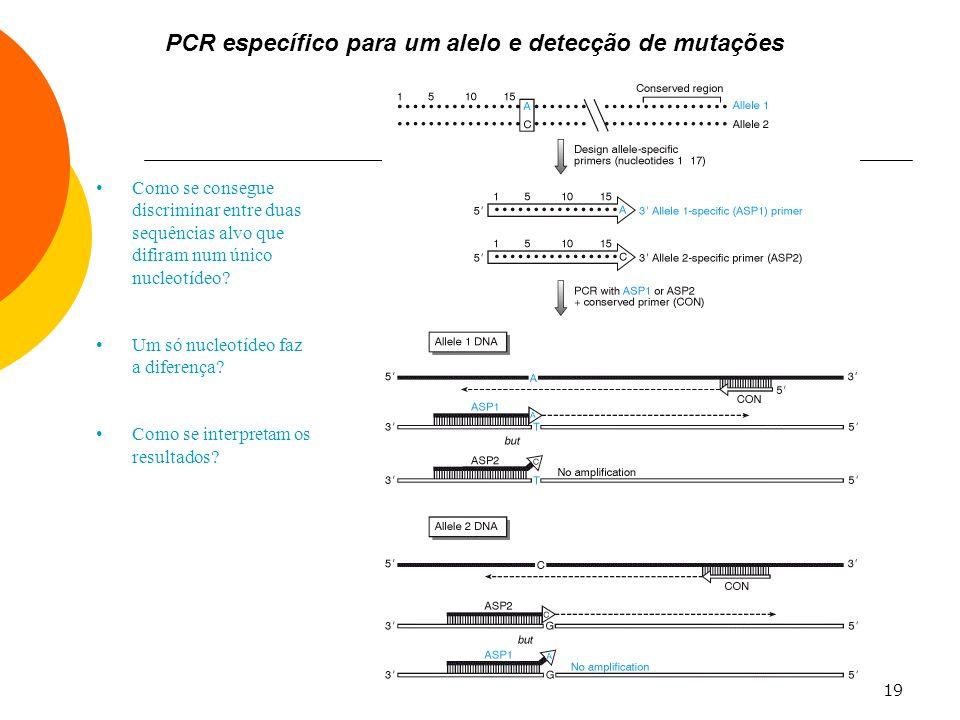 PCR específico para um alelo e detecção de mutações