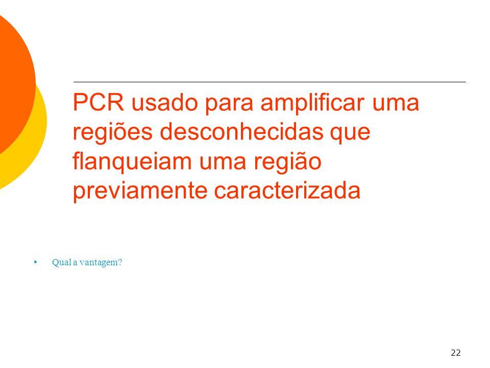 PCR usado para amplificar uma regiões desconhecidas que flanqueiam uma região previamente caracterizada