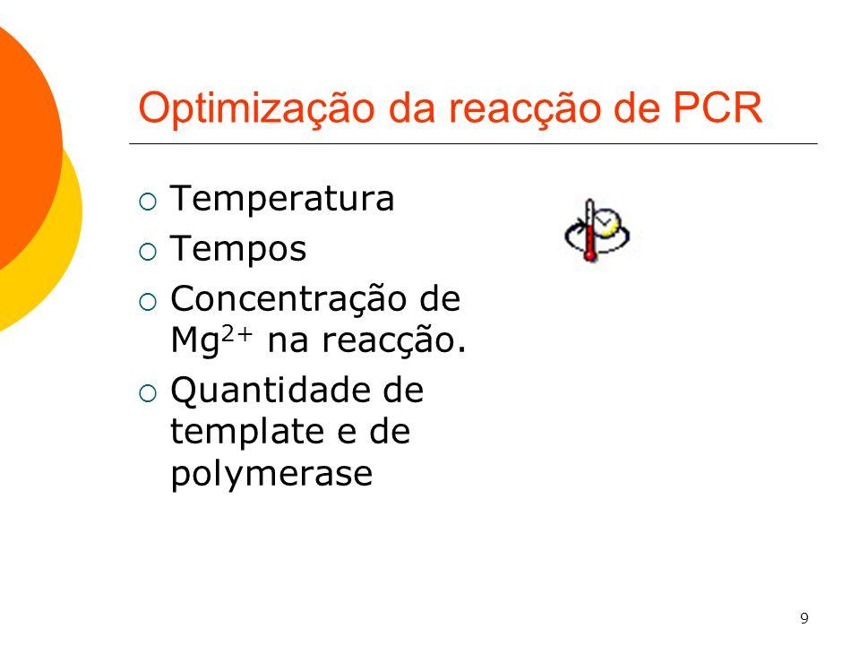 Optimização da reacção de PCR