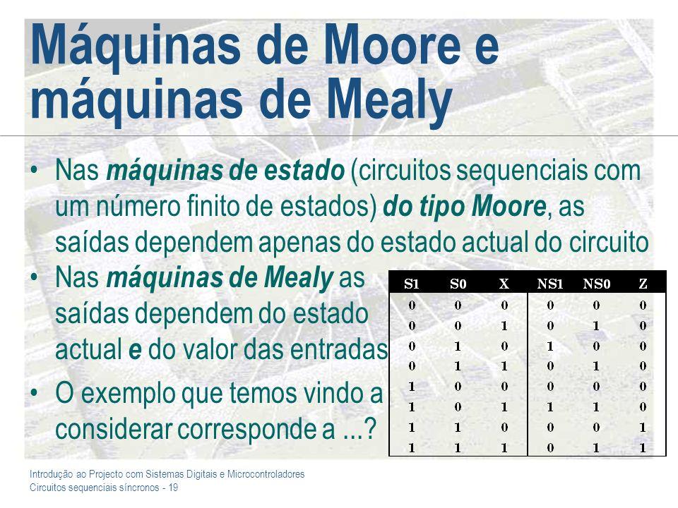 Máquinas de Moore e máquinas de Mealy