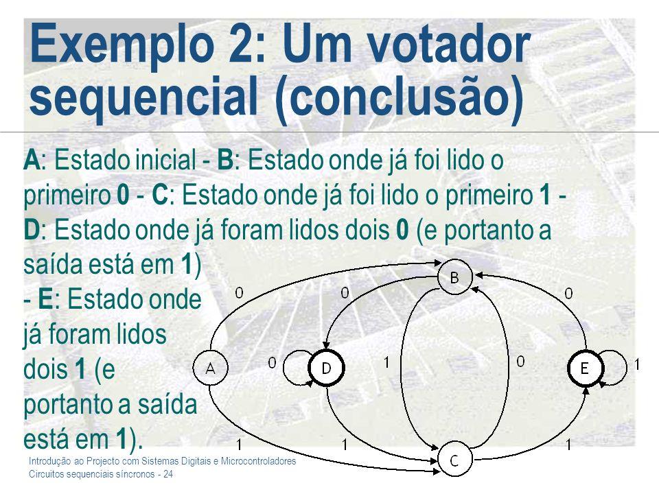 Exemplo 2: Um votador sequencial (conclusão)