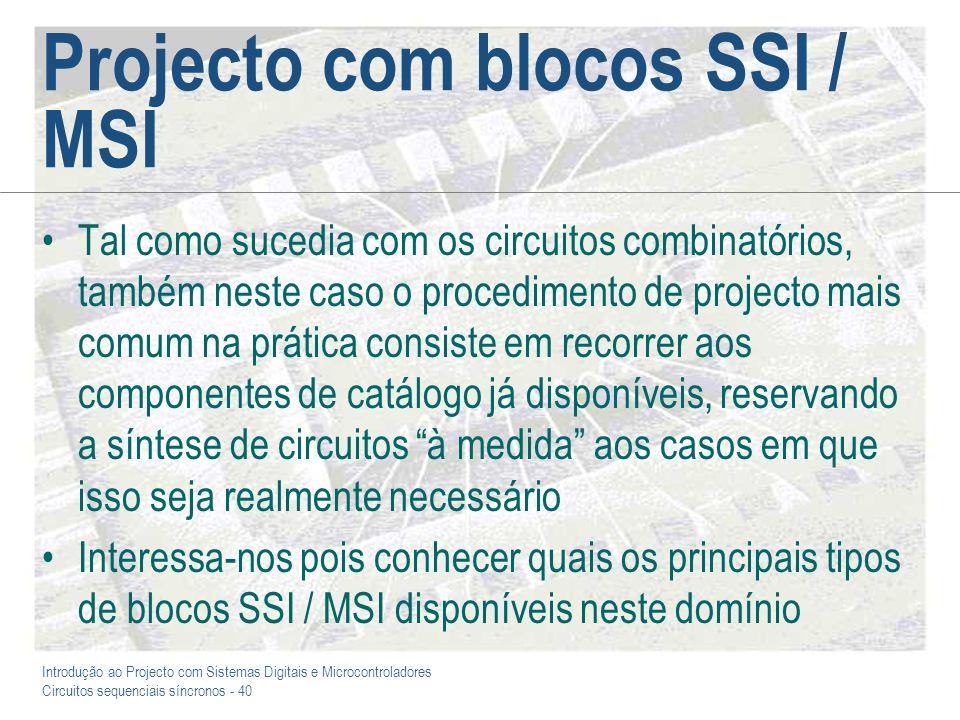 Projecto com blocos SSI / MSI