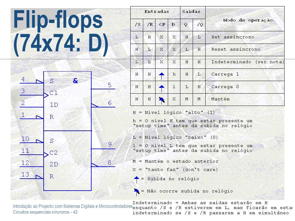 Flip-flops (74x74: D)