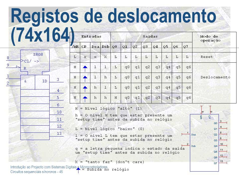 Registos de deslocamento (74x164)