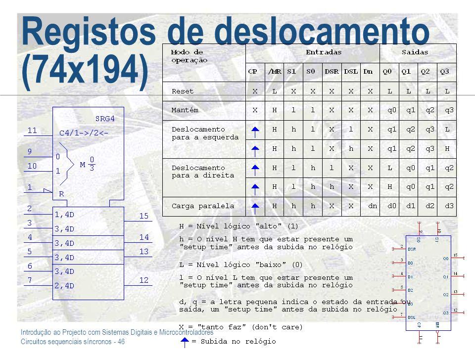 Registos de deslocamento (74x194)