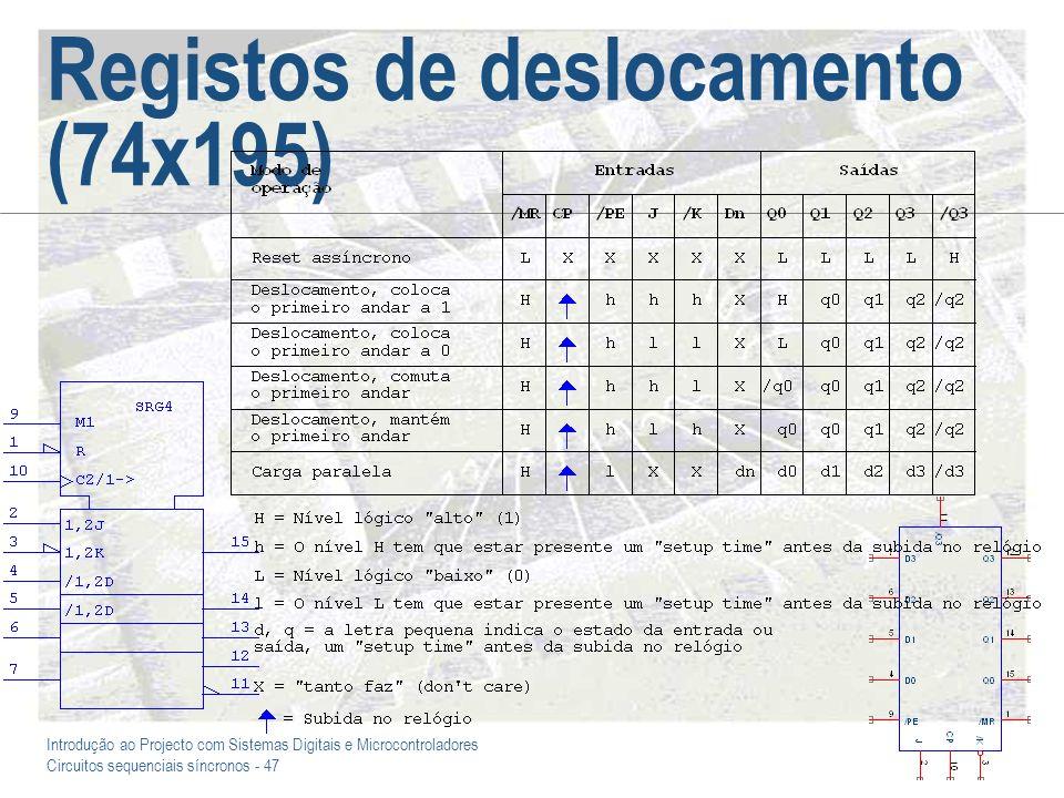 Registos de deslocamento (74x195)