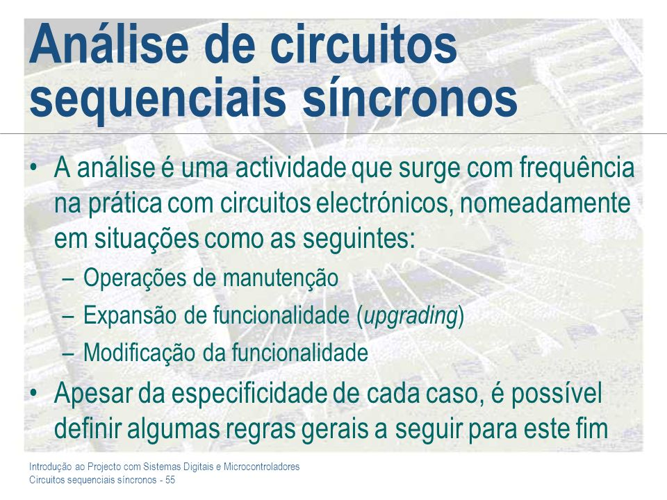 Análise de circuitos sequenciais síncronos