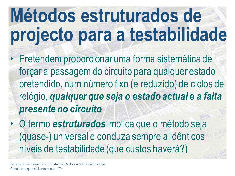 Métodos estruturados de projecto para a testabilidade