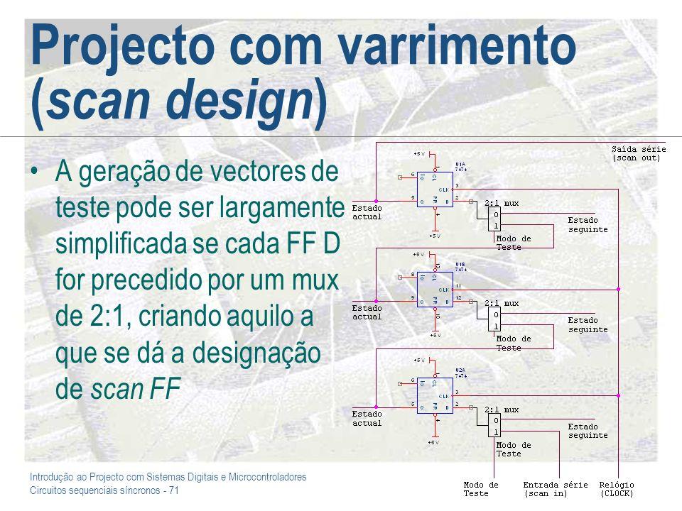 Projecto com varrimento (scan design)