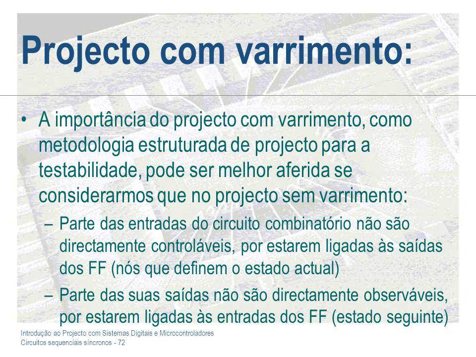 Projecto com varrimento: