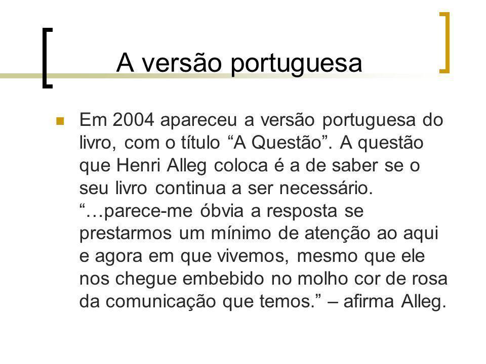 A versão portuguesa